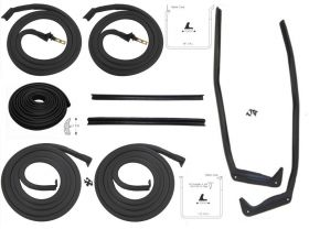 1956 Cadillac Sedan Deville Basic Rubber Weatherstrip Kit (9 Pieces) REPRODUCTION Free Shipping In The USA