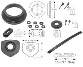 1956 Cadillac Interior Rubber Kit REPRODUCTION