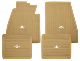 1957 1958 Cadillac Tan Rubber Floor Mats (4 Pieces) REPRODUCTION Free Shipping In The USA