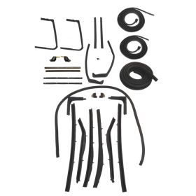 1957 1958 Cadillac Convertible Models Advanced Rubber Weatherstrip Kit (26 Pieces) REPRODUCTION Free Shipping In The USA