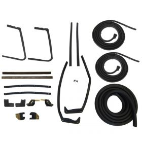 1957 1958 Cadillac 2-Door Hardtop Models Advanced Rubber Weatherstrip Kit (19 Pieces) REPRODUCTION Free Shipping In The USA