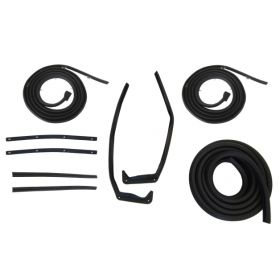 1957 1958 Cadillac 2-Door Hardtop Models Basic Rubber Weatherstrip Kit (9 Pieces) REPRODUCTION Free Shipping In The USA