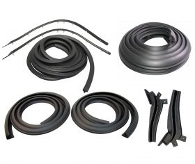 1957 1958 Cadillac Eldorado Brougham Basic Rubber Weatherstrip Kit (9 Pieces) REPRODUCTION Free Shipping In The USA