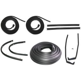 1957 1958 Cadillac Convertible Basic Rubber Weatherstrip Kit (9 Pieces) REPRODUCTION Free Shipping In The USA