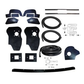 1957 1958 Cadillac (See Details) Splash Apron and Dust Shield Rubber Kit (17 Pieces) REPRODUCTION Free Shipping In The USA