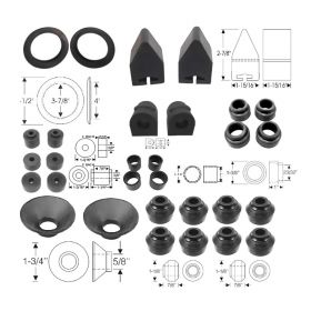 1957 1958 Cadillac Steering and Suspension Rubber Kit (30 Pieces) REPRODUCTION Free Shipping In The USA