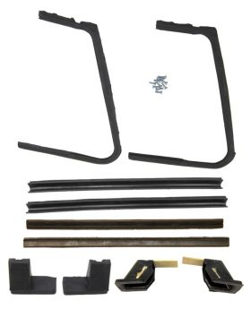 1957 1958 Cadillac 2-Door Hardtop Models Vent Window Rubber Weatherstrip Kit (10 Pieces) REPRODUCTION Free Shipping In The USA