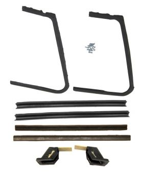 1957 1958 Cadillac Convertible Models Vent Window Rubber Weatherstrip Kit (8 Pieces) REPRODUCTION Free Shipping In The USA