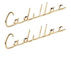 1957 Cadillac (See Details) Fender Script 1 Pair REPRODUCTION Free Shipping In The USA