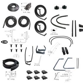 1957 Cadillac 4 Door Hardtop (See Details) Advanced Rubber Weatherstrip Kit (33 Pieces) REPRODUCTION Free Shipping In The USA