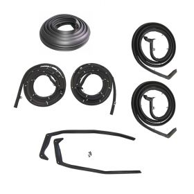 1957 Cadillac 4-Door Models (EXCEPT Eldorado Seville And Series 75 Limousine) Basic Rubber Weatherstrip Kit (7 Pieces) REPRODUCTION Free Shipping In The USA
