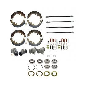 1957 Cadillac (EXCEPT Series 75 Limousine and Commercial Chassis) Master Drum Brake Kit With Bearings and Seals (78 Pieces) REPRODUCTION Free Shipping In The USA