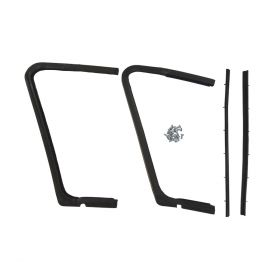 1957 1958 Cadillac 4-Door (EXCEPT Eldorado Brougham) Front Vent Window Rubber Weatherstrip Kit (4 Pieces) REPRODUCTION Free Shipping In The USA