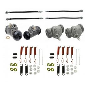 1958 1959 Cadillac (EXCEPT Commercial Chassis) Standard Drum Brake Kit (56 Pieces) REPRODUCTION Free Shipping In The USA