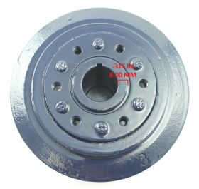 1958 1959 1960 1961 1962 Cadillac Harmonic Balancer WITHOUT Air Conditioning REBUILT Free Shipping In The USA