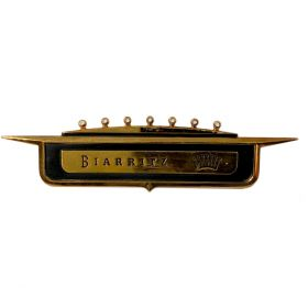 1958 Cadillac Biarritz Quarter Tail Fin Crest Emblem REPRODUCTION Free Shipping In The USA