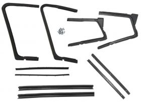 1958 Cadillac 4-Door Hardtop (EXCEPT Series 75 Limousines and Eldorado Brougham) Vent Window Weatherstrip Kit (10 Pieces) REPRODUCTION Free Shipping In The USA
