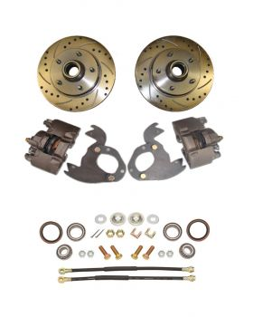 1961 1962 1963 1964 1965 1966 Cadillac 1967 1968 (EXCEPT Eldorado) Drilled and Slotted Rotor Front Disc Brake Conversion Kit NEW