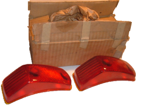 1941 1942 1946 1947 1948 1949 Cadillac Tail Light Lens 1 Pair NOS Free Shipping In The USA