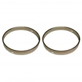 1955 1956 1957 Cadillac (See Details) Headlight Retaining Rings 1 Pair REPRODUCTION Free Shipping In The USA