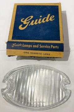 1959 CADILLAC GLASS FOG AND TURN SIGNAL LIGHT LENS RIGHT PASSENGER SIDE New Old Stock FREE SHIPPING IN THE USA