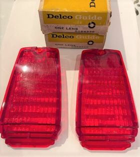 1963 Cadillac Red Tail Light Lens in Bumper 1 Pair New Old Stock Free Shipping In The USA