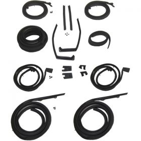 1959 1960 Cadillac 4-Door 4-Window Hardtop Advanced Rubber Weatherstrip Kit (16 Pieces) REPRODUCTION Free Shipping In The USA