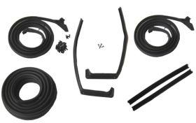 1959 1960 Cadillac 2-Door Hardtop Models Basic Rubber Weatherstrip Kit (7 Pieces) REPRODUCTION Free Shipping In The USA