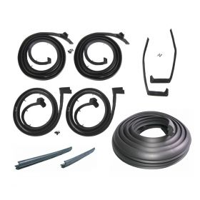 1959 1960 Cadillac 6-Window 4-Door Hardtop Basic Rubber Weatherstrip Kit (9 Pieces) REPRODUCTION Free Shipping In The USA