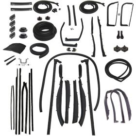 1959 Cadillac Series 62 and Eldorado 2-Door Convertible Deluxe Rubber Weatherstrip Kit (308 Pieces) REPRODUCTION Free Shipping In The USA