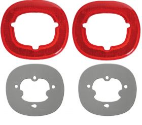 1959 Cadillac Rear Reflector Lenses With Gaskets Set (4 Pieces) REPRODUCTION Free Shipping In The USA