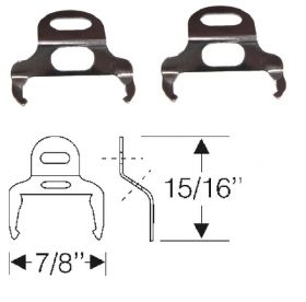 1955 1956 Cadillac (See Details) Door Weatherstrip Fastener Retainer Clips Pair REPRODUCTION