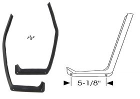 1959 1960 1961 Cadillac (See Details) Front Upper Door Hinge J Rubber Weatherstrips 1 Pair REPRODUCTION Free Shipping In The USA
