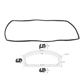 1959 1960 Cadillac 2-Door Hardtop Back Window Weatherstrip REPRODUCTION Free Shipping In The USA