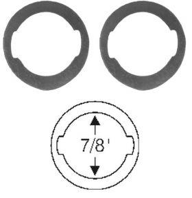 1959 1960 1961 1962 1963 1964 1965 1966 1967 1968 1969 1970 1971 1972 1972 1973 Cadillac Door Lock Cylinder Gasket 1 Pair REPRODUCTION