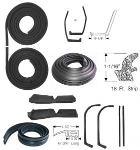 1959 1960 Cadillac Fleetwood Series 75 Limousine Advanced Rubber Weatherstrip Kit (12 Pieces) REPRODUCTION Free Shipping In The USA