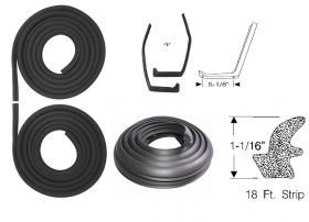 1959 1960 1961 Cadillac Fleetwood Series 75 Basic Rubber Weatherstrip Kit (5 Pieces) REPRODUCTION Free Shipping In The USA