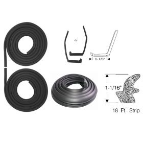 1959 1960 1961 Cadillac Fleetwood Series 75 Limousine Basic Rubber Weatherstrip Kit (5 Pieces) REPRODUCTION Free Shipping In The USA