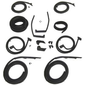 1960 Cadillac 4-Door 6-Window (EXCEPT Series 75 and Eldorado Brougham) Deluxe Rubber Weatherstrip Kit (116 Pieces) REPRODUCTION Free Shipping In The USA