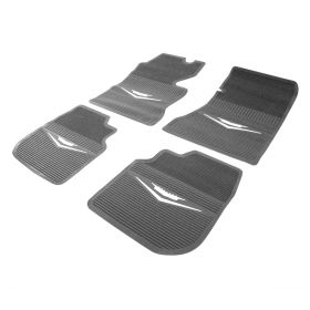 1961 1962 1963 1964 Cadillac Gray Rubber Floor Mats (4 Pieces) REPRODUCTION Free Shipping In The USA