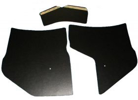 1961 1962 Cadillac (WITH A/C) Black Kick Panel Set 3 Pieces REPRODUCTION Free Shipping In The USA