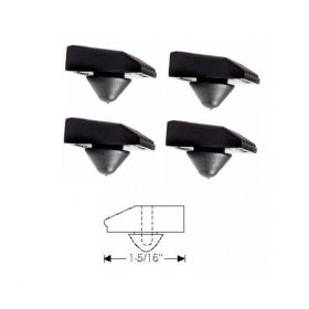 1961 1962 1963 1964 Cadillac (See Details) Fender to Hood Bumpers Set (4 Pieces) REPRODUCTION