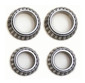 1961 1962 1963 1964 1965 1966 1967 1968 Cadillac Disc Brake Inner and Outer Front Wheel Bearings Set (4 Pieces) REPRODUCTION Free Shipping In The USA