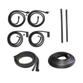 1961 Cadillac 4-Door 6-Window (EXCEPT 75 Limousine) Basic Rubber Weatherstrip Kit (9 Pieces) REPRODUCTION Free Shipping In The USA