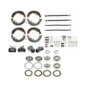 1961 Cadillac (EXCEPT Commercial Chassis) Master Drum Brake Kit With Bearings and Seals (92 Pieces) REPRODUCTION Free Shipping In The USA