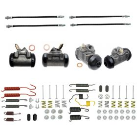 1961 Cadillac (EXCEPT Commercial Chassis) Standard Drum Brake Kit (70 Pieces) REPRODUCTION Free Shipping In The USA