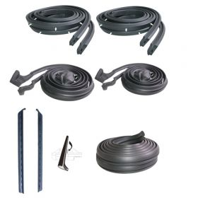 1962 Cadillac 2-Door Hardtop Basic Rubber Weatherstrip Kit (7 Pieces) REPRODUCTION Free Shipping In The USA