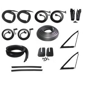 1963 1964 Cadillac Series 62 and Deville 4-Door 6-Window Advanced Rubber Weatherstrip Kit (18 Pieces) REPRODUCTION Free Shipping In The USA