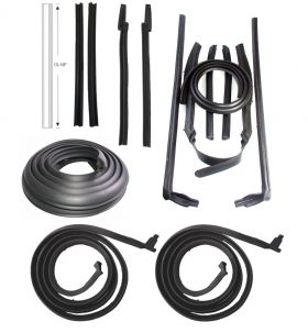 1963 1964 Cadillac Convertible Basic Rubber Weatherstrip Kit (14 Pieces) REPRODUCTION Free Shipping In The USA