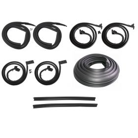 1963 1964 Cadillac Series 62 and Deville 4-Door 6-Window Sedan (See Details) Basic Rubber Weatherstrip Kit (9 Pieces) REPRODUCTION Free Shipping In The USA
